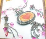 Charming ladies fashion China company agent jewelry enlarge orange pastal and pinky beaded jewelry set
