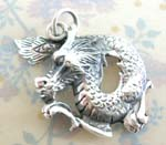 Chinese power symbol wholesale flying dragon sterling silver pendant