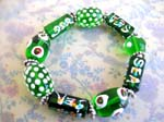 China bali beads wholesale jewelry supply lampwork green beaded bracelet