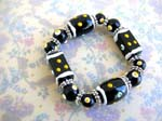 Handcraft polymer clay beads China supplier wholesale Lampwork black beaded bracelet