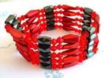 Health accessory wholesale hematite jewelry from China red beaded magnetic wrap arounds magnetic hematite jewelry