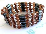 Great mother gift wholesale brown beaded magnetic wrap arounds magnetic hematite jewelry