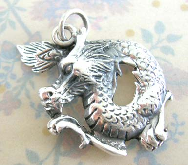 Chinese power symbol wholesale flying dragon sterling silver pendant aloadofball Gallery